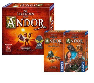 Die Legenden von Andor & Neue Helden & Der Sternenschild (Bundle)