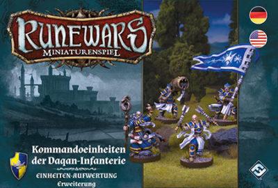 Runewars –Miniaturenspiel: Kommandoeinheiten der Daqan-Infanterie