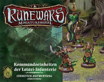 Runewars –Miniaturenspiel: Kommandoeinheiten der Latari-Infanterie