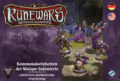 Cover Runewars –Miniaturenspiel: Kommandoeinheiten der Waiqar-Infanterie