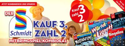 """Schmidt \""""Kauf 3, zahl 2\"""" Mitbringspiel Kombi-Deal"""