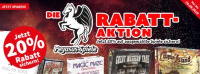 Pegasus-Rabatt-Aktion